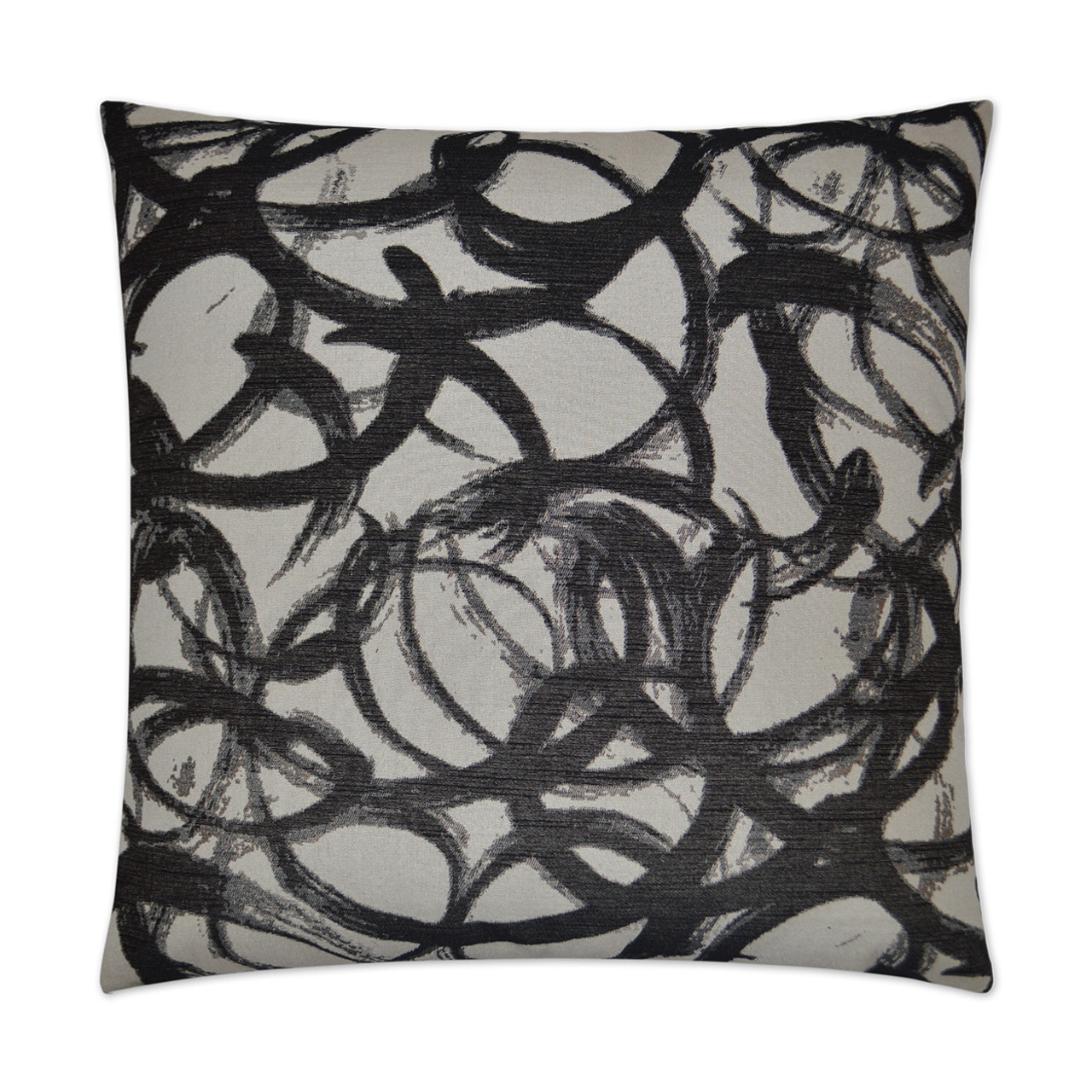 Swoosh Black and White Throw Pillow
