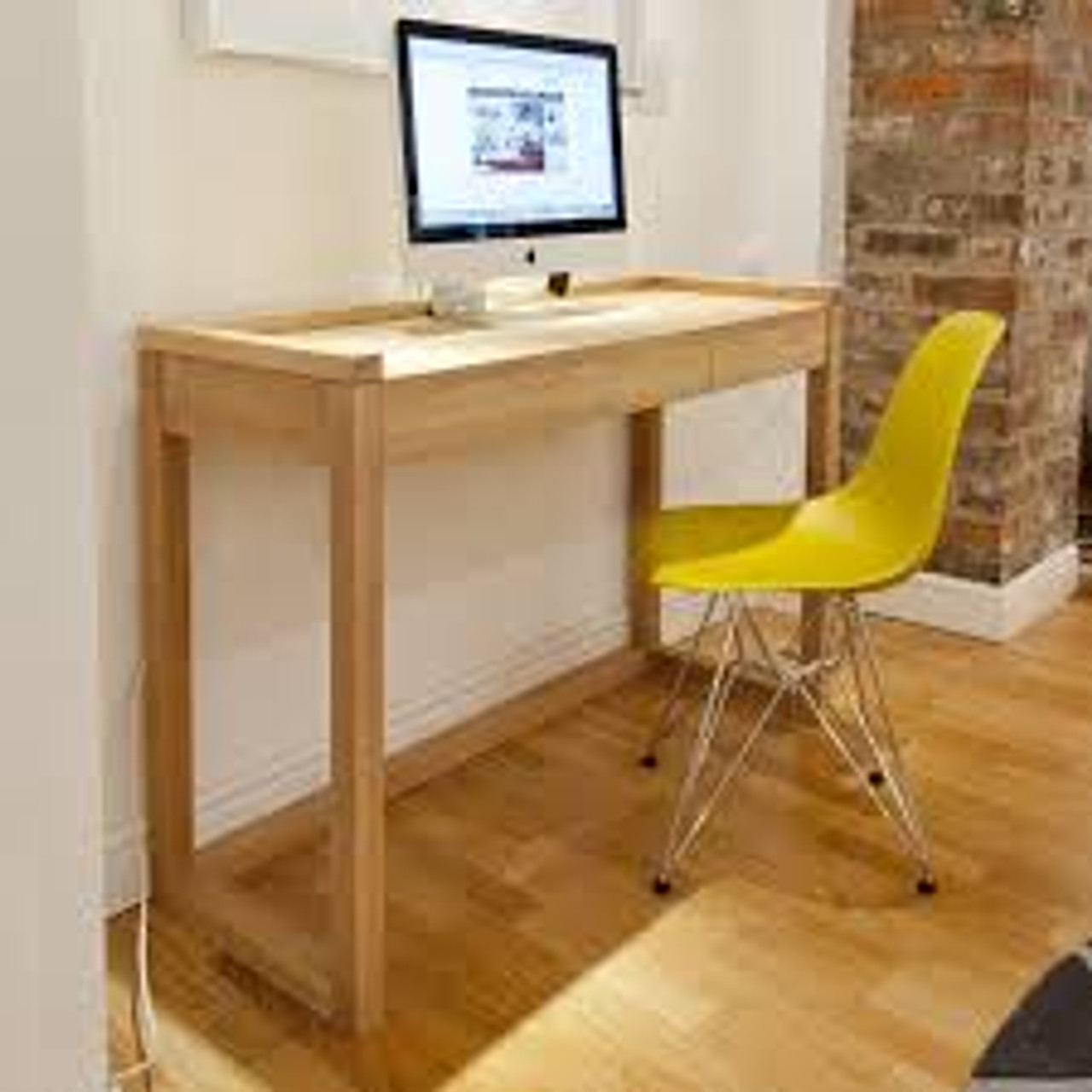 Oak Channel Frame Office Desk