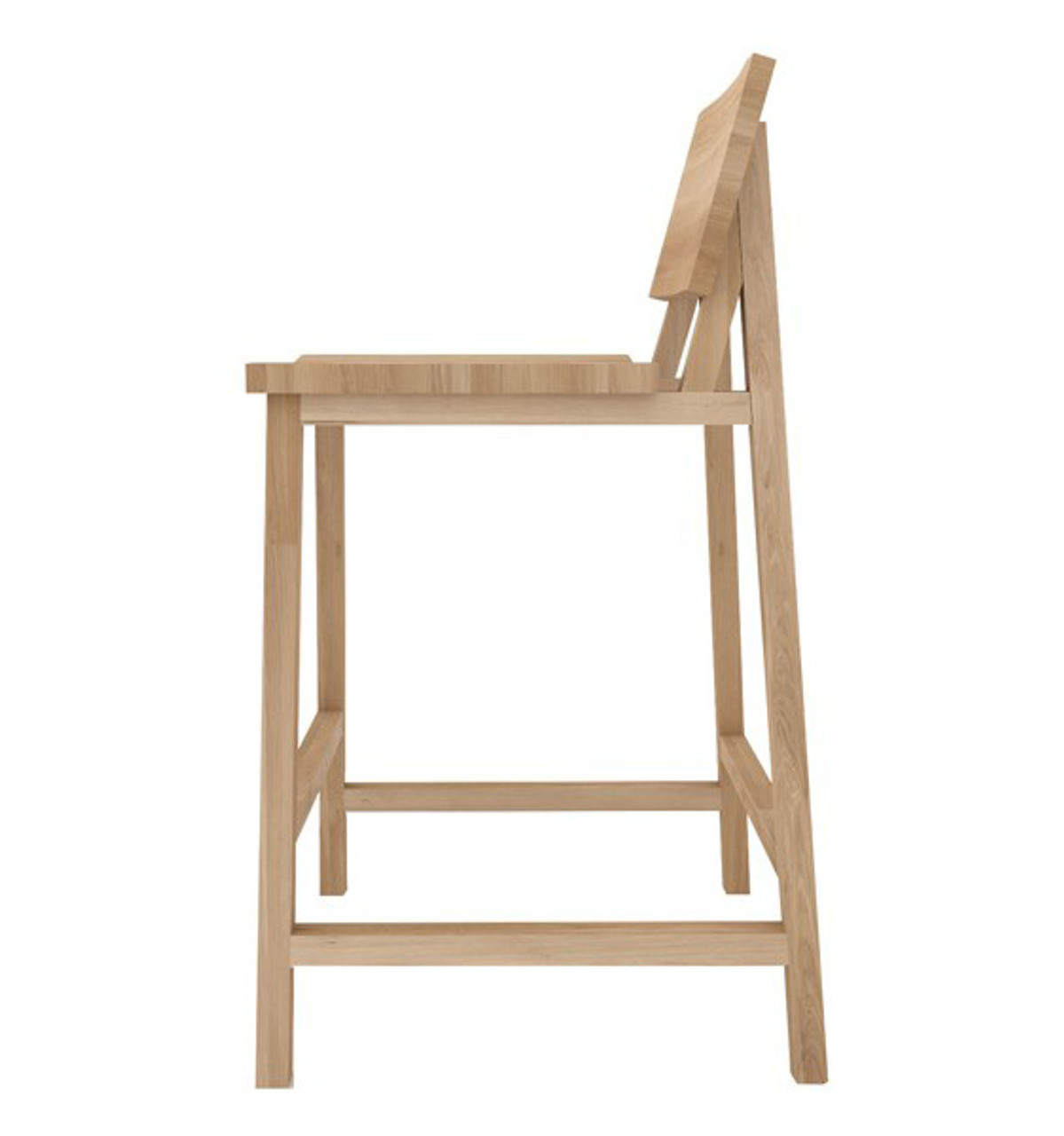 Nathan Yong Solid Oak Bar Counter Stool
