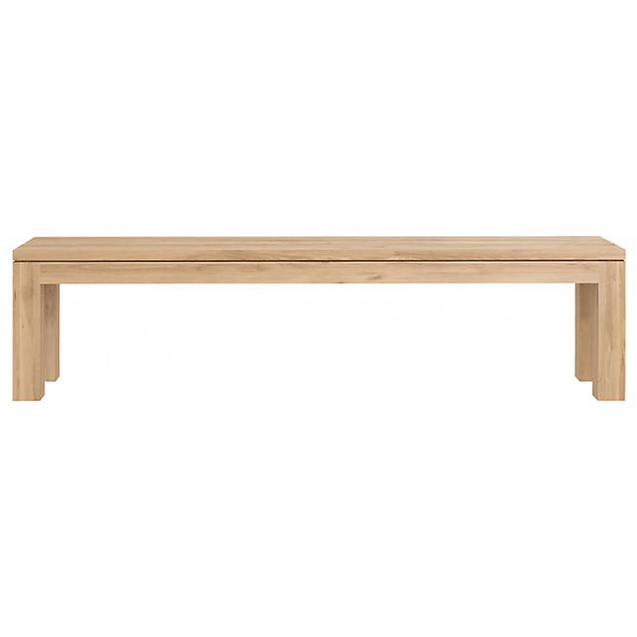 Oak Straight Dining Bench