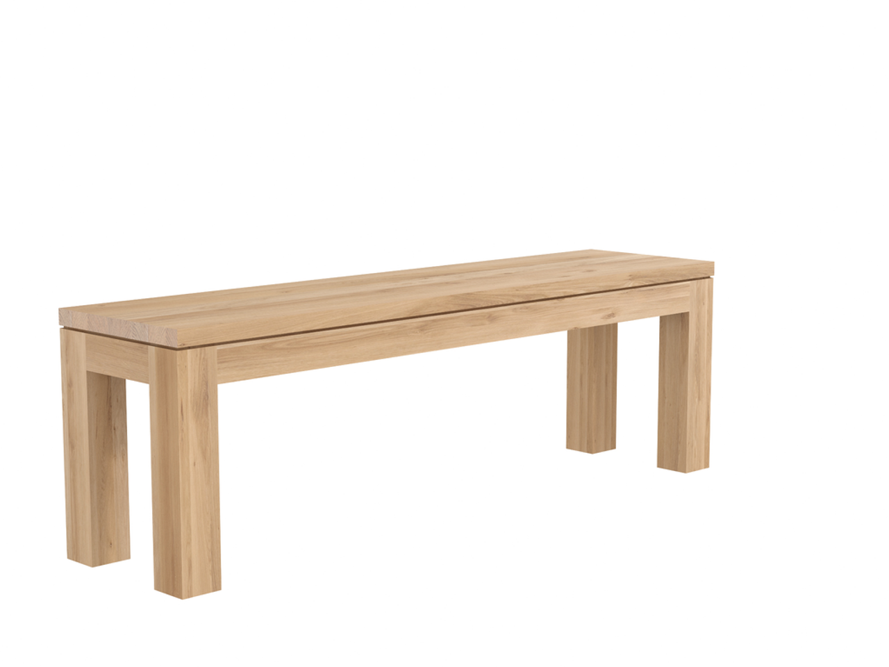 Oak Plank Dining Bench