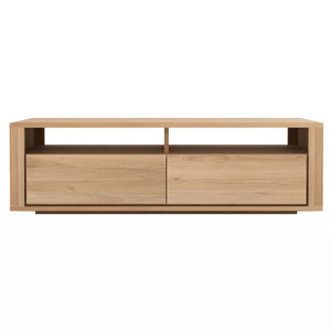 Oak Shadow Media Cabinet