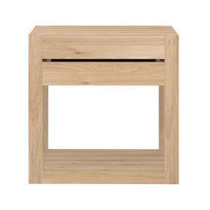 Oak Azure Bedside Table Modern Nightstand