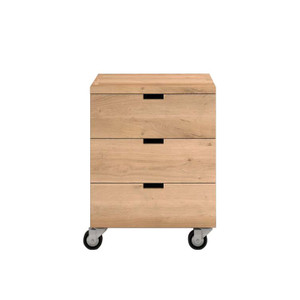 Black Oak Billy Box Office Drawers on Casters