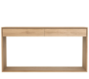 Ark Light Oak Console Sofa Table