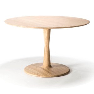Oak Torsion Round Dining Table