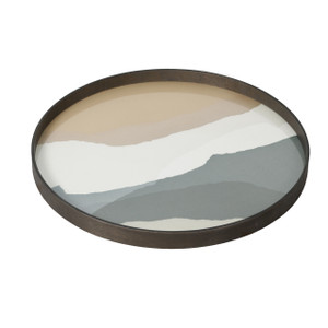 Slate Wabi Sabi Glass Tray