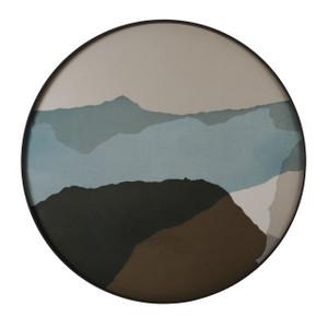 Graphite Wabi Sabi Glass Tray