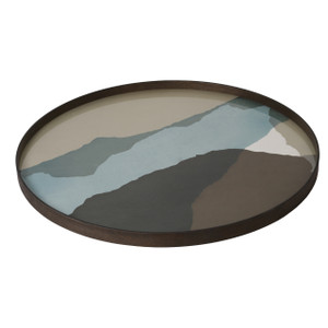 Graphite Waby Sabi Glass Tray