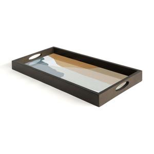 Slate Wabi Sabi glass tray - Rectangular