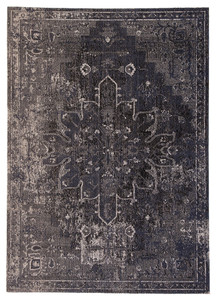 Polaris Blue Black Outdoor Rug