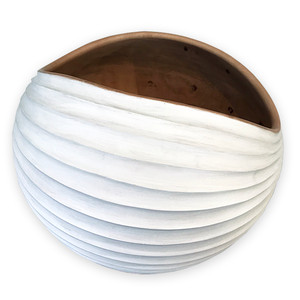Tamarind Wood Dune Bowl Collection - White