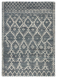 Marrakesh Wool Area Rug - Cool Grey