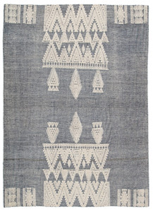 Torry Flat Weave Area Rug - Blue