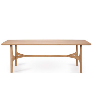 Light Oak Nexus Trestle Dining Table