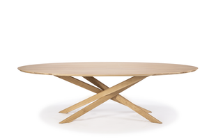Light Oak Oval Mikado Dining Table