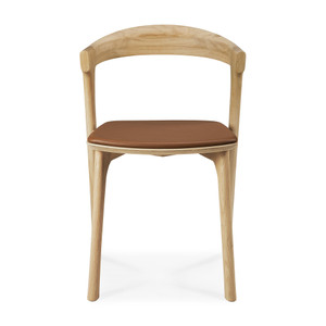 Oak Bok Dining Chair with Upholstered Seat