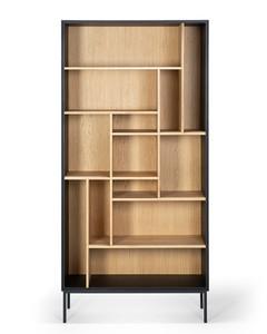 Oak Azura Black Storage Display Shelf