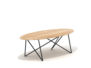 Casbah Oak Orb Oval Coffee Table