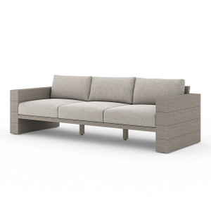Royce Teak Outdoor Sofa - Weathered Grey