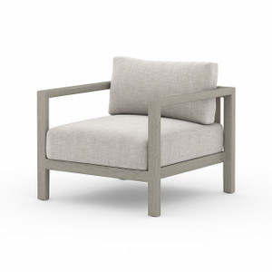 Oceanside Outdoor Teak Lounge Chair - Weathered Grey