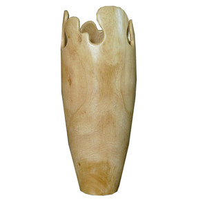 Tamarind Soft Vase - Natural Wood
