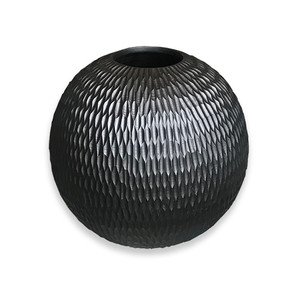Black Mango Wood Collection - Chiseled Large Round Center Piece