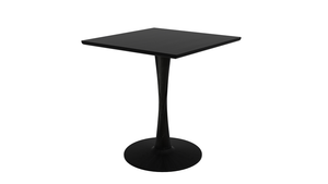 Oak Torsion Square Dining Table - Light Oak & Black