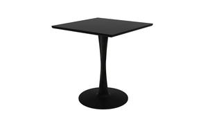 Oak Torsion Square Dining Table - Light Oak & Black