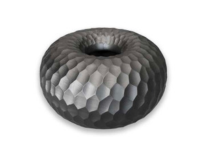 Black Mango Wood Collection - Honeycomb Bagel Shape Centerpiece
