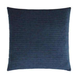 Pleatte Throw Pillow - Navy Blue