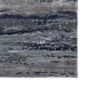 Chaos Theory Bandi Blue Grey Area Rug