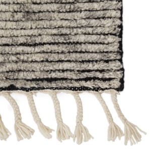Alpine Wool Area Rug with Braided Fringe