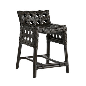 Flat Rattan Richmond Counter Stool - Espresso Brown Black