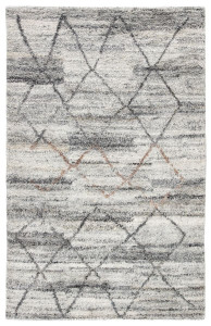 Kasey Striated Gray Moroccan Rug