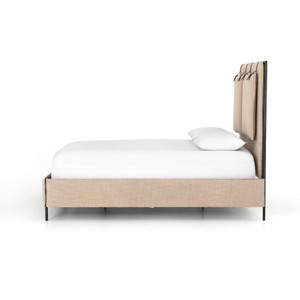Harrison Safari Metal Frame Upholstered Bed