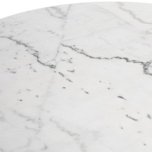 Pedestal Marble Dining Table Black or White