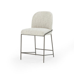 Realm Bar + Counter Stool - Brushed Slate Iron Tube Frame