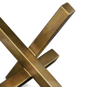 Brass Intersecting Sculpture Table Top Accent