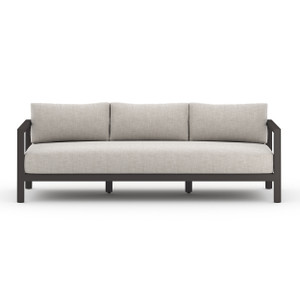 Oceanside Teak Outdoor Sofa - Black Bronze