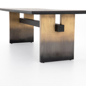 Mia Black Oak Dining Table