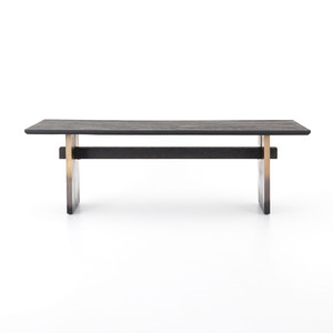Mia Black Oak Dining Table