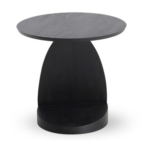 Teak Bau Black Round Side Table