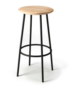 Oak Baretto Counter Height Bar Stool