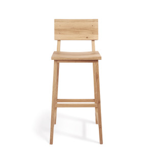 Strut Modern Bar Stool with Backrest