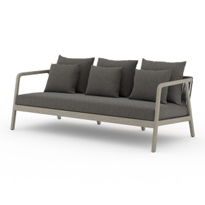 La Palma Teak Outdoor Sofas - Weathered Grey