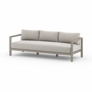 Oceanside Teak Outdoor Sofas - Weathered Grey