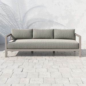 Oceanside Teak Outdoor Sofa - Weathered Grey