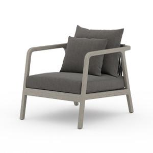 La Palma Teak Outdoor Lounge Chair - Weathered Grey