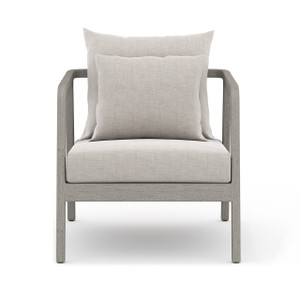 La Palma Teak Outdoor Lounge Chair - Weathered Grey